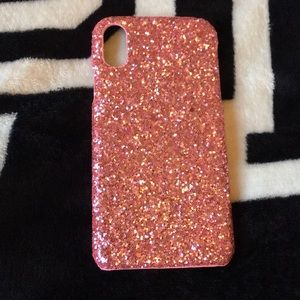Accessories - Pink glitter iphone x/xs case